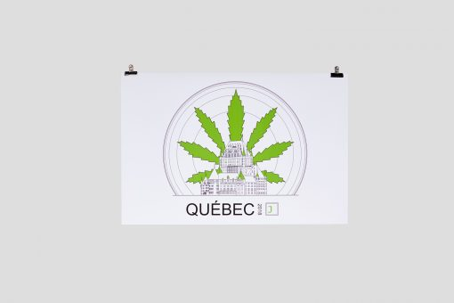 Cannabis Sunrise Chateau Frontenac Poster