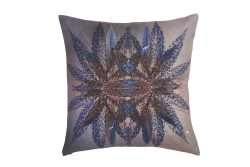 Decorative Mirror Effet Cushion purple