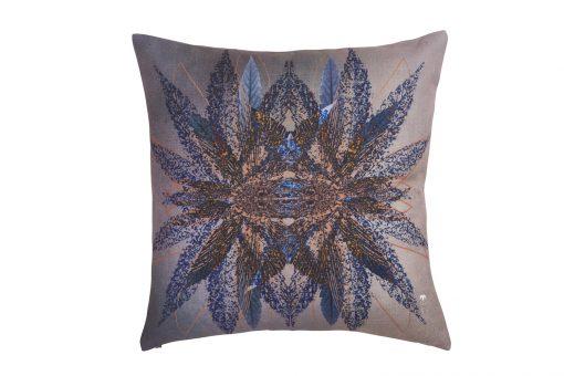 Decorative Mirror Effet Cushion purple