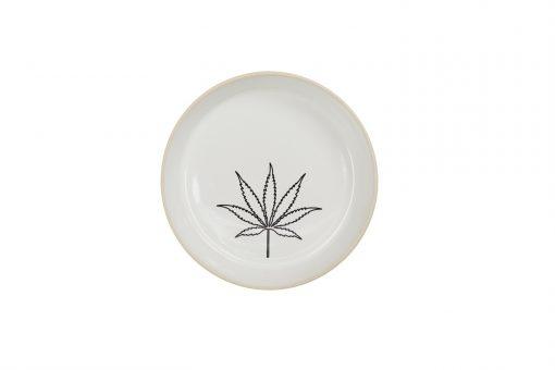 Flower Plate in ceramic pattern weed flower
