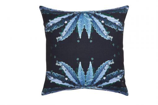 Green Weed Crystal Buds Decorative Cushion