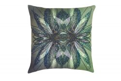 Green Weed Effect Decorative Cushion