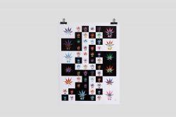 Mosaic #1 Cannabis 67 Leaf Poster