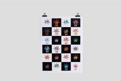Mosaic #2 Cannabis 67 Leaf Poster