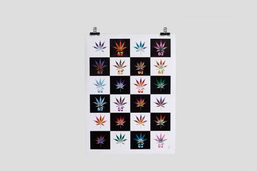 Mosaic Weed Leaf Poster #4
