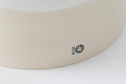 Flower glass in ceramic pattern weed flower